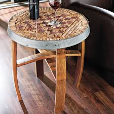 for this awesome piece of furniture cut the corks in half long ways as well as in half up right place the corks on the table top in any design you like
