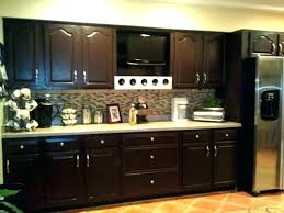 dark stained kitchen cabinets. Grey Stained Kitchen Cabinets Dark Staining Painting Creamy Polished Mahogany Wood Cabinetry Shiny A