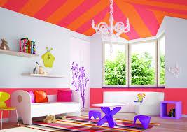 Split Complementary Bright Orange Color Scheme Home Interior Bright Color Home Decor