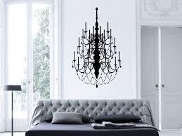 fancy chandelier vinyl wall decal art decor design modern decals for living room er light bedroom