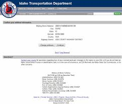 confirm your address vehicle registration renewal demo