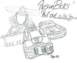 transformers rescue bots coloring pages colouring pictures free bo