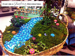 chic on a shoestring decorating fairy gardens that s right i said fairy gardens