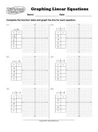 simple graphing linear equations worksheet kidz activities functions v activi medium size