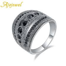 <b>Ajojewel</b> Best Selling <b>Fashion</b> Jewelry Black <b>CZ</b> Geometric Vintage ...
