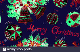 Background Decorations Design Christmas Decorations And Greetings Hand Painted Watercolor