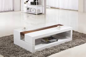 furniture rectangle modern white glass coffee table with shelf design ideas and furniture 32 best