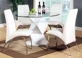 modern round dining tables modern round white high gloss clear glass dining table and 4 chairs