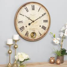 large wall clock vintage farmhouse roman numeral rustic antique 32 oversized for