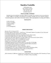 Resume Templates: Domestic Violence Counselor