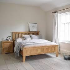 Oak Furniture Bedroom Bevel Natural Solid Oak King Size Bed Bedroom Furniture