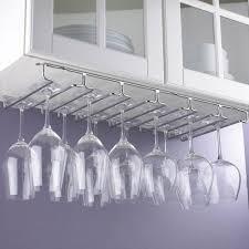 hanging metal wine glass rack