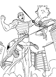 Spider Man And Sandman Coloring Pages Trycoloring