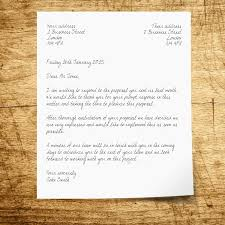 Letter Bussines Writing A Business Letter How To Structure A Letter Envelope