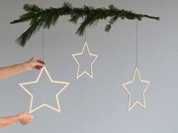 Große Sterne Aus Holz 3er Set