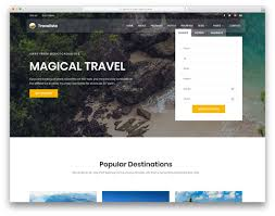 Travel Templates 25 Best Free Travel Website Templates With Full Of Colors 2019