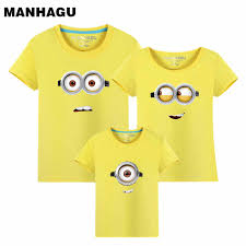 <b>MANHAGU Brand 1piece Family</b> Matching Outfits Minions T Shirts ...