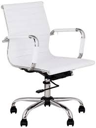 lexmod ribbed mid office. modern ribbed white leather office conference computer chair ergonomic mid back lexmod a