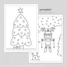 Kerst Rendiertjes Printable Kleurplaten Tekeninstructies
