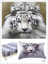 whole 3 100 organic cotton 3d white tiger bedding sets sateen fabric tiger duvet covers queen king size fitted sheet set camo bedding bohemian bedding