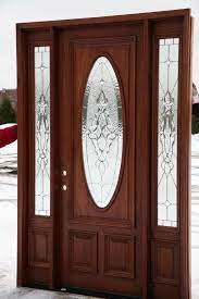 front doors with oval glass entry