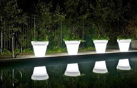 planter lighting. Illuminated By LED Lights, These Luminescent Planters From Rotoluxe Are Translucent, Planter Lighting D
