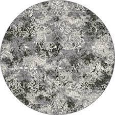 dynamic rugs grey round designer line area rug