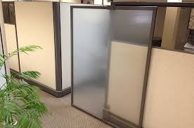 designer cubicle with sliding glass door compatico officemakers