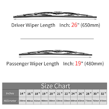 Wiper Length Chart