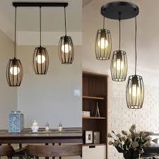 details about retro vintage black pendant light chandelier lighting kitchen bar ceiling lamp