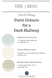 the 3 best light neutral and not boring paint colours for a dark hallway or