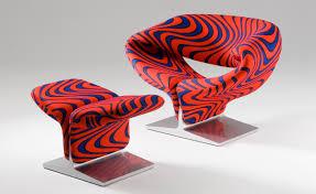 ribbon chair ottoman