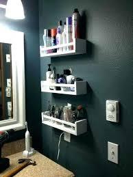 bathroom shelf wall all copper black storage rack shelves ikea bathro