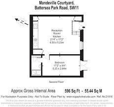 1 bedroom flat for in mandeville courtyard battersea sw11 floor plan