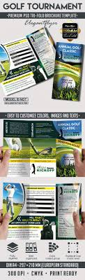 Tri-Fold Template For Golf Tournament – By Elegantflyer