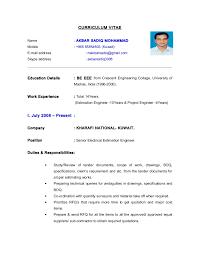 Cv Electrical Engineer Estimation -