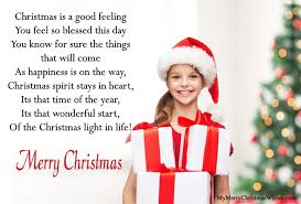 short christmas poems for kids cute