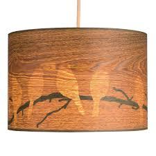 wood veneer lighting. Large Modern Bird And Branch Silhouette Wood Veneer Effect Ceiling Pendant Light Shade: Amazon.co.uk: Lighting