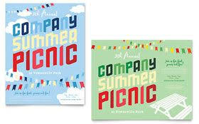 Company Summer Picnic Poster Word Template Publisher