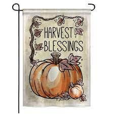 harvest blessings fall garden flag
