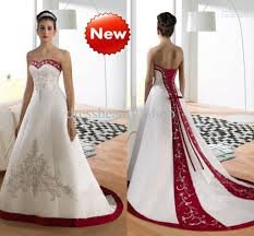 wine red wedding. Discount Sweetheart Luxury Embroidery A Line Wedding Dresses Wine