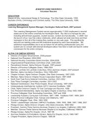 resume volunteer sample volunteer resume