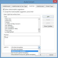 Normal Dot Template Automated Boilerplate Using Microsoft Word Autotext Autocorrect