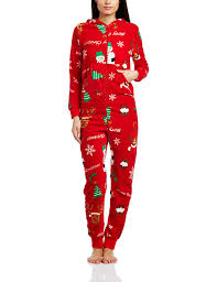 The Christmas Workshop Women's Christmas Onesie, Red, Size 6 ...