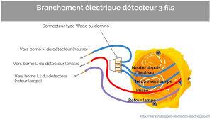 Nice Branchement Fil électrique Neutre Sur Le Détecteur De Mouvement