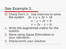 check point 3 use matrices to solve the system 2x