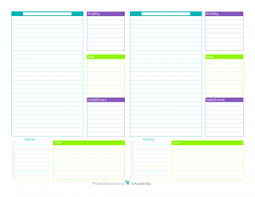 Daily Planner Printout Personal Planner Free Printables