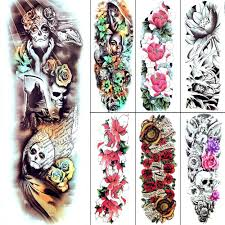 48x17 см ужасающий джокер мужчины временные татуировки более темные акварель