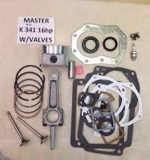 engine rebuild master kit w valves for kohler k341 16hp m16 w 16hp image is loading engine rebuild master kit w valves for kohler
