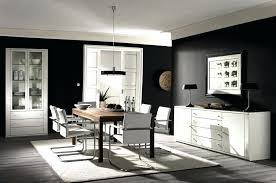 black furniture decor. Black Room Decor And White Dining Inspirations With Wooden Table Furniture